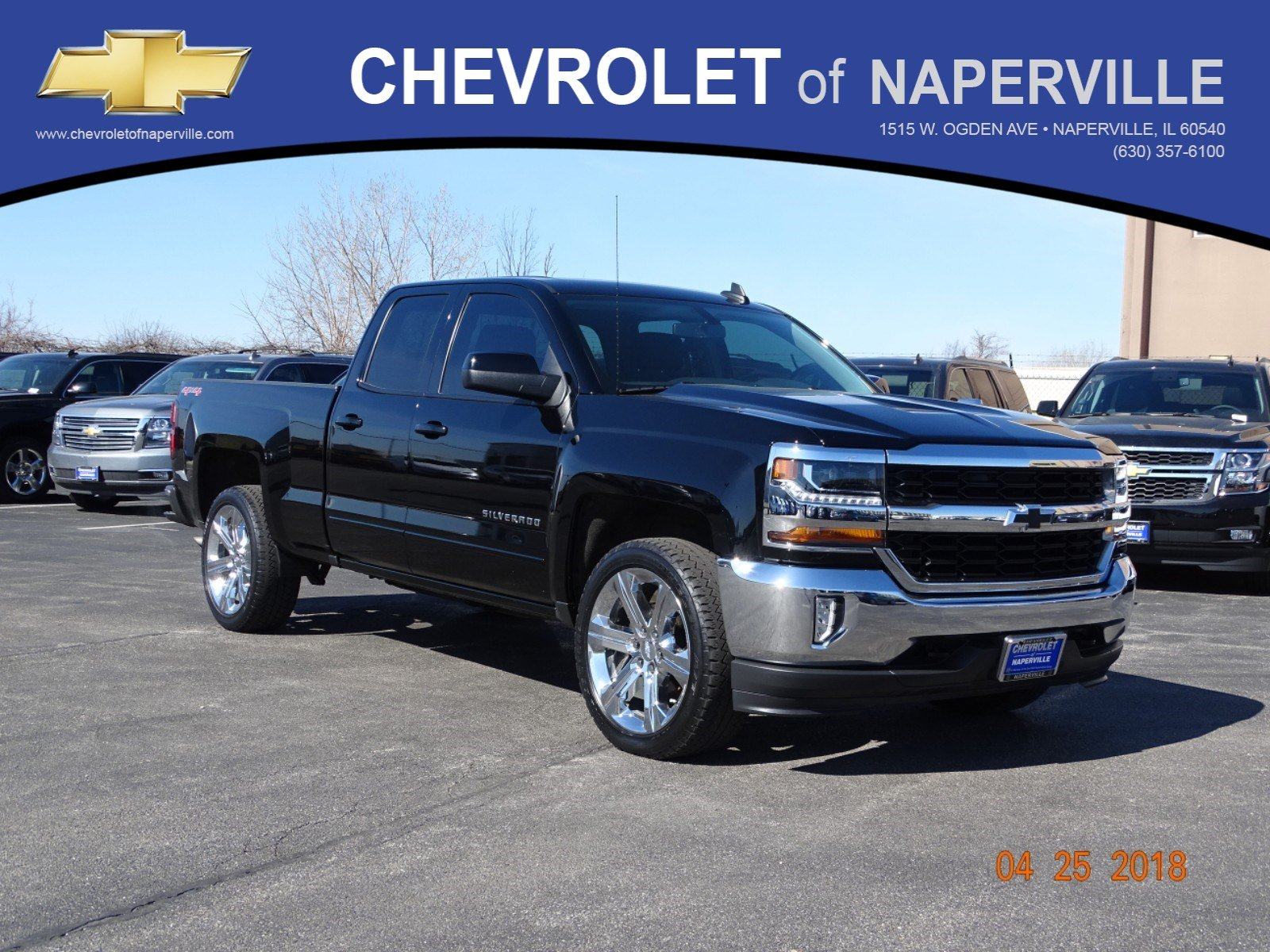 pre extended silverado naperville inventory pickup chevrolet owned lt of cab used in